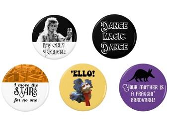 Labyrinth - Jareth   - Badge Set - Magnet - 80s - Film - Movies - Music - David Bowie