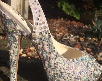 Handmade crystallised wedding shoes! (You provide shoes)
