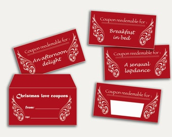 Blank naughty love coupons
