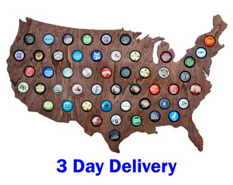 US Beer Cap Map Holds Craft Beer Bottle Caps Great For Man - Man in the us map
