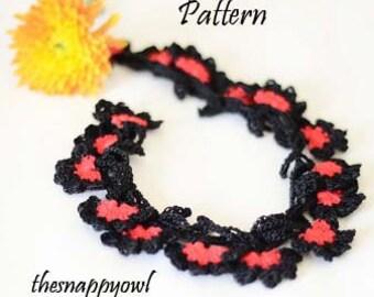 Crochet Necklace Pattern, Crochet Flower Necklace Pattern, Crochet Pattern, PDF Pattern step by step.