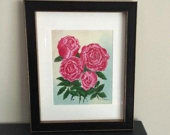 Original Floral Abstract Art