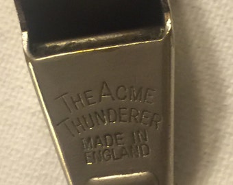 Vintage Acme Thunderer Whistle, Made in England
