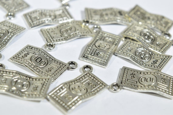 10 Hundred Dollar Bill Charms Bill Charms Money Charms