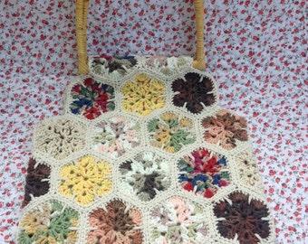Handmade Crochet Yarn Purse 1970s