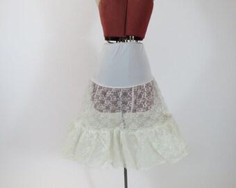 1950s White Lace Petticoat