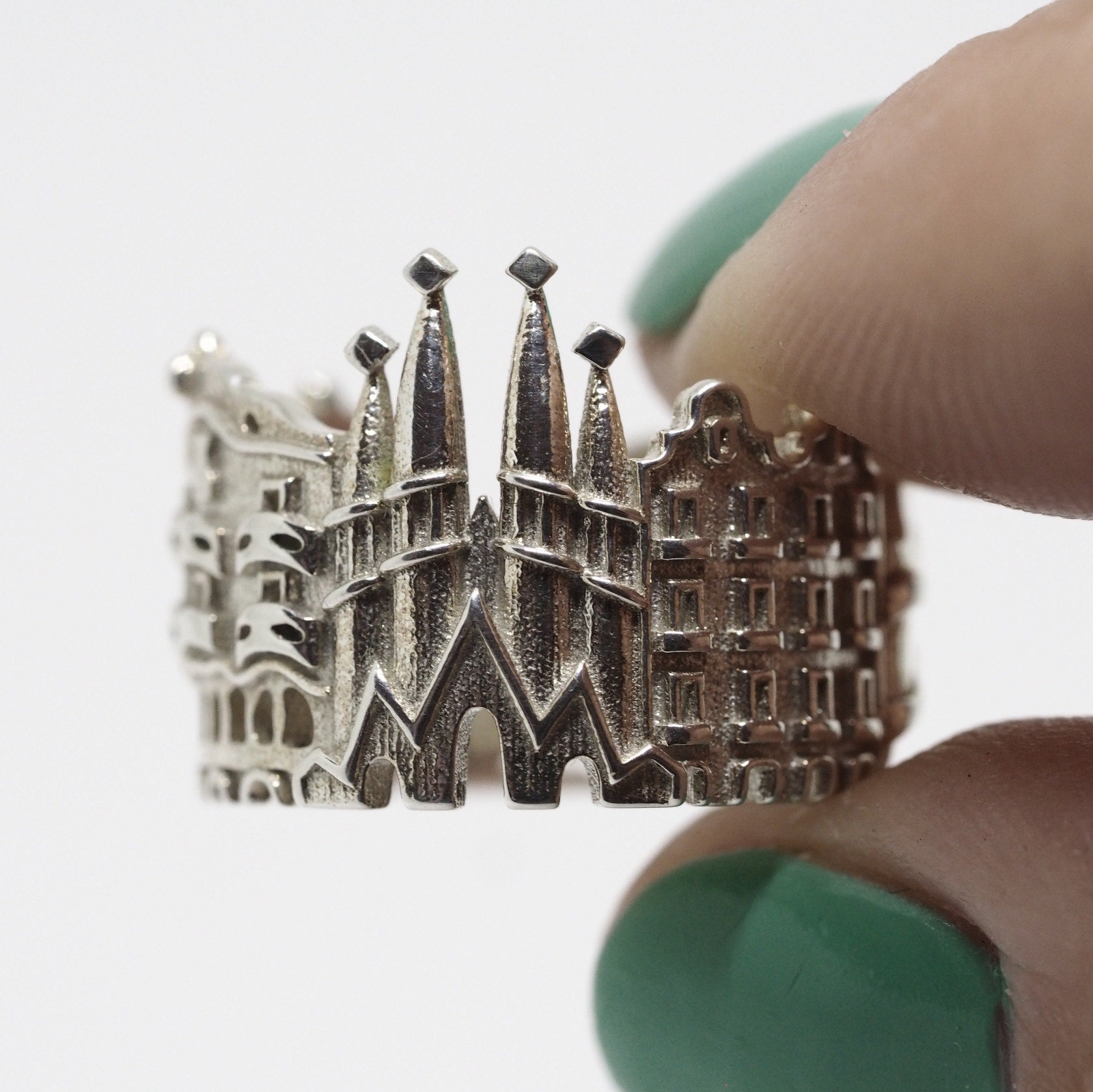 Cityscape rings Where Jewelry meets Architecture by Shekhtwoman