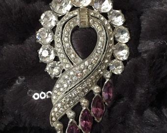 Antique Art Deco Dress or Fur Clip