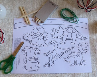 My dinosaurs mobile, do it yourself (DIY) and Christmas gift for kids