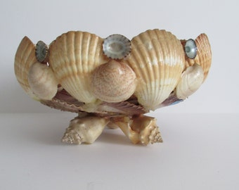 LARGE ~Vintage~ REAL Sea Shell Bowl, Conchologist,  Aesthetic, Curiosities