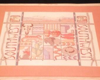 Bucilla Counted Cross Stitch Kit 40492 Southwest Sampler Size 16 x 12 Designed Nancy Rossi