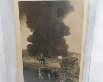 WWI Original Battlefield Photo Battle In Champagne