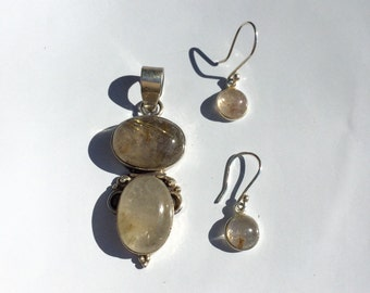 Sterling Silver Rutilated Quartz Set