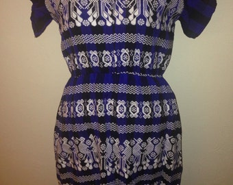 1970's Mexican Woven Hippie Dress