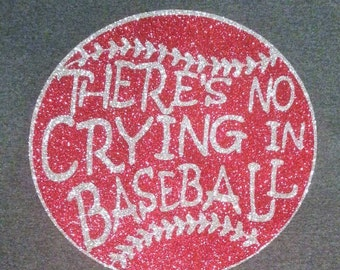 Theres No Crying In Baseball V-Neck T-Shirt