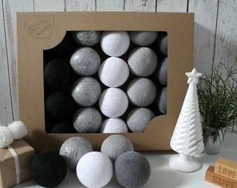 Cotton Balls Silver Winter 50 items