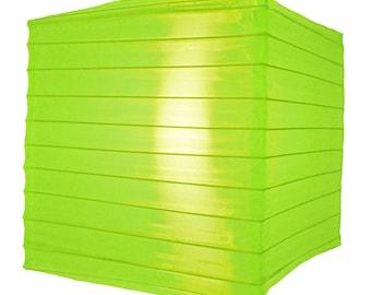 "10"" Neon Green Nylon Square Lantern - 10NYSQ-NG"