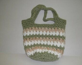 Hand made crochet tote/purse bag.   Ready to Ship