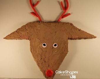 Reindeer Cut-Up Cake Pattern