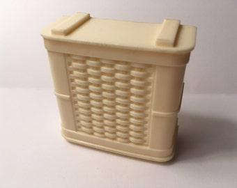 Ideal Miniature Clothes Hamper-vintage dollhouse furniture plastic