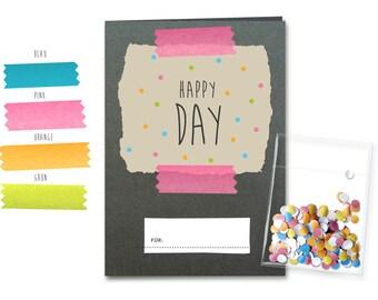 HAPPY DAY + confetti - designer card