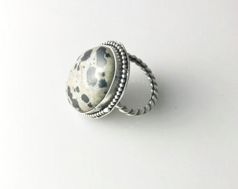 Handmade Sterling Silver Ring With ç Stone
