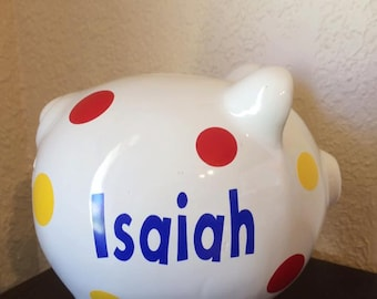 Personalized Banks, Customized Banks, Personalized Piggy Bank, Personalized Glass Bank,