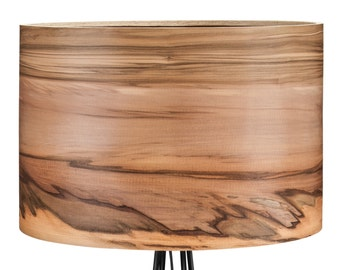 SVEN Wooden Floor Lamp - Veneer Lamp Shade - Satin Walnut - Natural Wood Lamps - Lighting - Modern Lamps - Lampshades