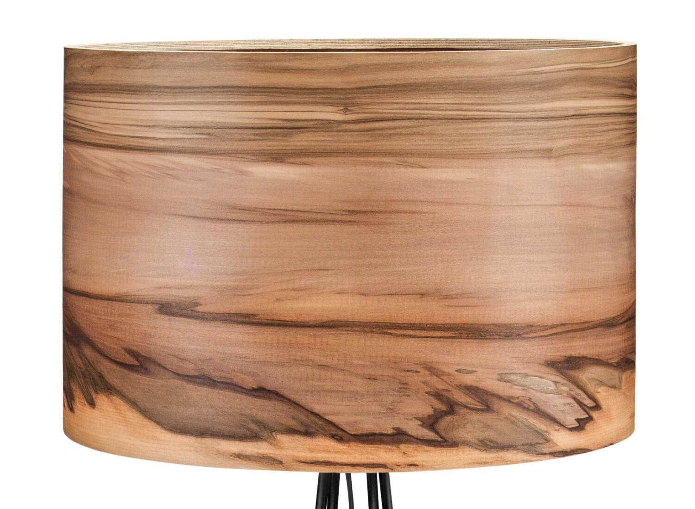 sven wooden floor lamp veneer lamp shade satin walnut. Black Bedroom Furniture Sets. Home Design Ideas