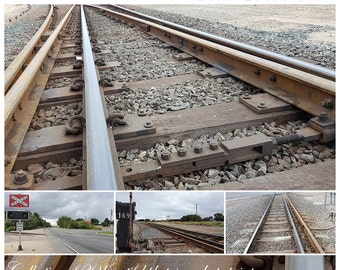 Train Tracks Photos Vol 1, Australian traintracks photographs, Railway tracks Digital background, photography backdrop, instant download