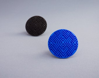3D Printed Geometric Ring // Geometric Pattern // Statement Jewelry