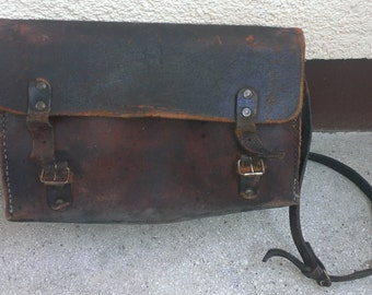 Post Apocalyptic Leather  Shoulder Bag