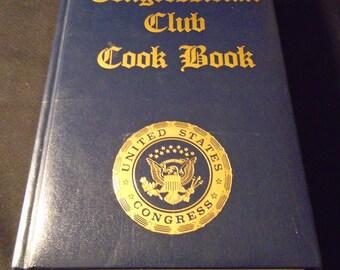 Congressional Club Cookbook 1987 Nancy Reagan Vintage Community Hardcover Washington DC US Congress