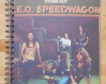 R.E.O. SPEEDWAGON - record album cover notebook/journal/sketchbook/art journal
