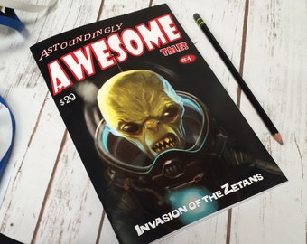 Astoundingly Awesome Tales - Invasion of the Zetans replica fan made sketch book