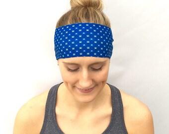 Fitness Headband - Workout Headband - Exercise Headband - Yoga Headband - Ocean Diamond