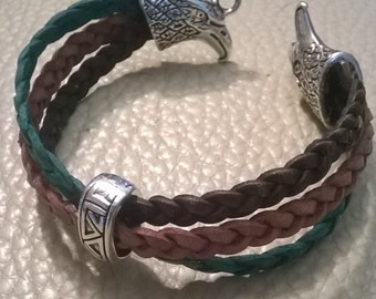 3 color leather bracelet
