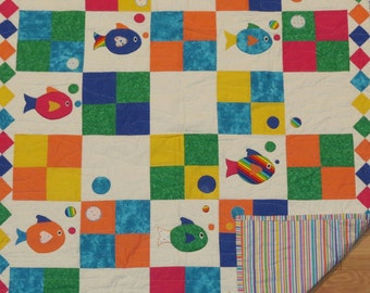 Here Fishy Fishy!  A Baby Quilt