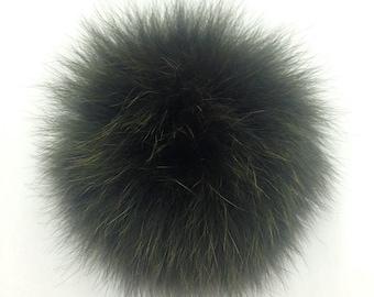 747407681df Luxury detachable real fur pom pom made from genuine arctic fox fur ...