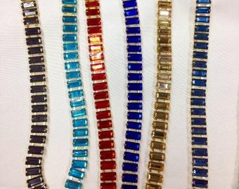 1 yard Rhinestone trim/ Rhinestone Chain/ Formal gown belt/ shine Like Swarovski