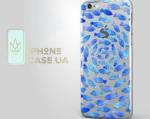 Blue Watercolor Fish Case Silicone Case Crystal Clear iPhone SE Case iPhone 6s iPhone 6s Plus 5 5s 5c 4s iPad Mini Samsung Galaxy S6 S7