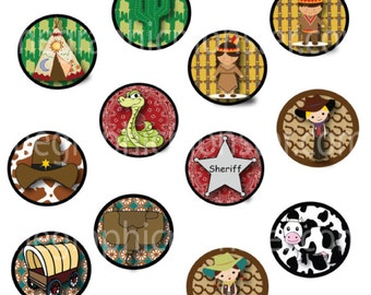 Cowboys and Indians Printable Cupcake Toppers, Cupcake Toppers,  Party, Birthday Party Supplies, Western,  Digital Cupcake Topper
