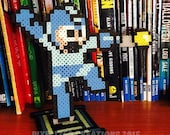 Megaman/Rockman Jumping & Firing Pose Figurine Desk Buddy with Energy Cell Stand (Desk/Office/Shelf Decoration) |Retro Videogame|