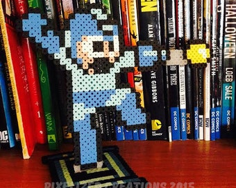 Megaman Fused Bead Desk Buddy with Energy Cell Stand