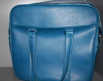 Blue Samsonite Weekender, Vintage Bag, Vintage Luggage