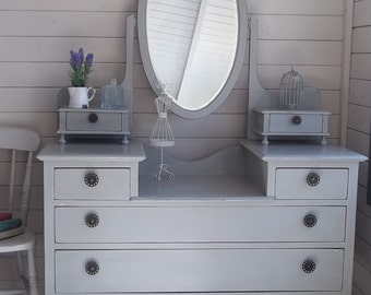NOW SOLD *** Vintage Painted Dressing Table