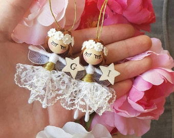 Tiny personalised angel with wings