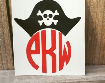 Halloween Pirate Monogram Decal