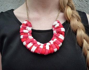 Braided Jersey Knit Necklace