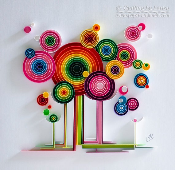 Quilling Art Wall Paper
